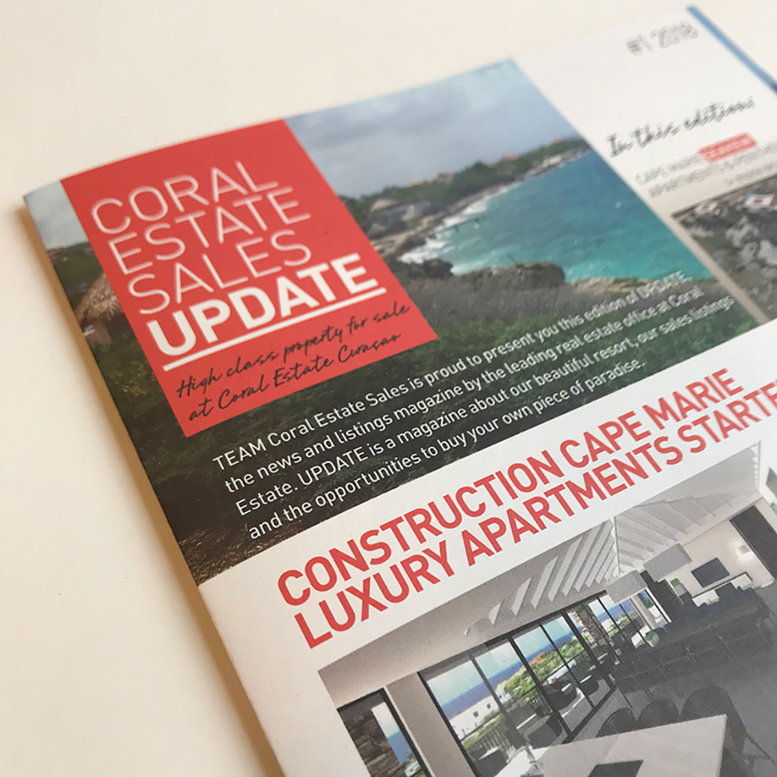 coral estate sales, up to date in 'update'