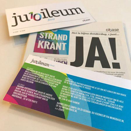 Obase Jubileum Mailing Krant