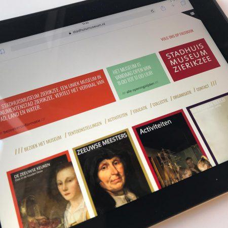 Stadhuismuseum Website Homepage