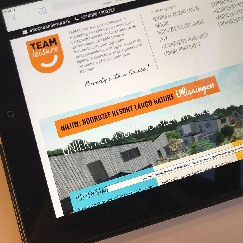 teamleisure.nl laat interessante projecten strálen