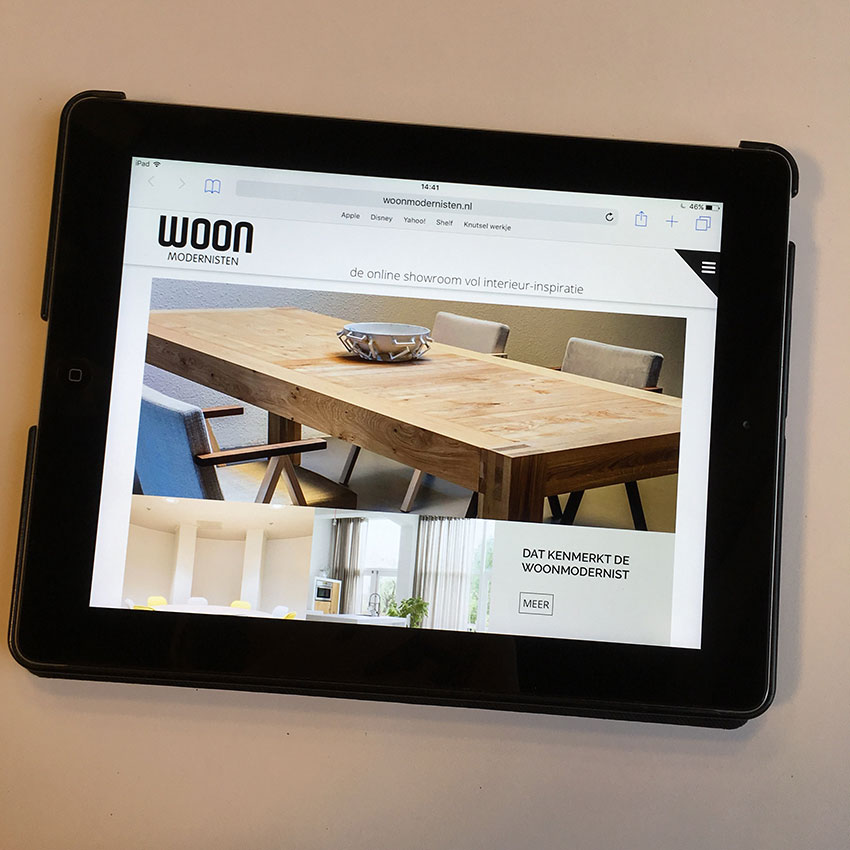 WoonModernisten.nl, on- en offline showrooms